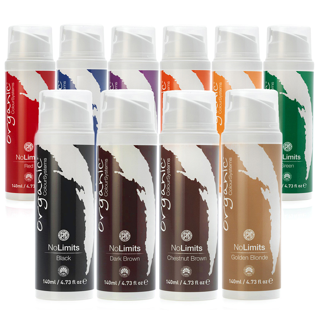 Organic Colour Systems No Limits PPD FREE Semi-permanent colours